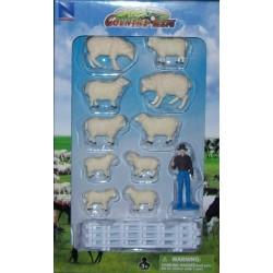 New Ray Toys - 05515 - Country Life - Zestaw ze Zwierzętami - Owce