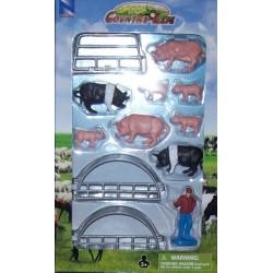 New Ray Toys - 05515 - Country Life - Zestaw ze Zwierzętami - Świnki