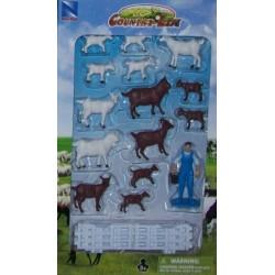 New Ray Toys - 05515 - Country Life - Zestaw ze Zwierzętami - Kozy