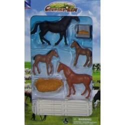 New Ray Toys - 05515 - Country Life - Zestaw ze Zwierzętami - Konie