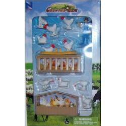 New Ray Toys - 05515 - Country Life - Zestaw ze Zwierzętami - Kury i Kaczki