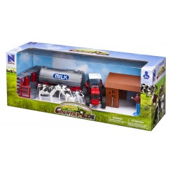 New Ray Toys - 04295- Country Life - Traktor do Przewozu Mleka