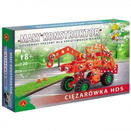 Alexander - 11104 - Klocki Konstrukcyjne - Mały Konstruktor - Ciężarówka HDS