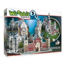 WREBBIT Puzzle 3D Neuschwanstein 890 el. 02005