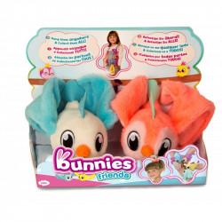 IMC TOYS Bunnies Friends PLUSZOWY PTASZEK MAGNETYCZNY 2-PAK Biały i Neonowy-Róż 97834