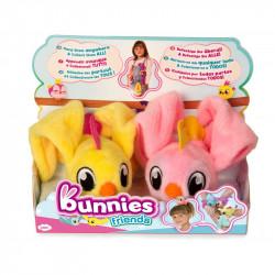 IMC TOYS Bunnies Friends PLUSZOWY PTASZEK MAGNETYCZNY 2-PAK Różowy i Żółty 97841