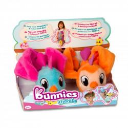 IMC TOYS Bunnies Friends PLUSZOWY PTASZEK MAGNETYCZNY 2-PAK Niebieski i Pomarańczowy 97810