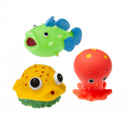TULLO Zabawka do Kąpieli Zwierzątka Morskie 3 Sztuki 503