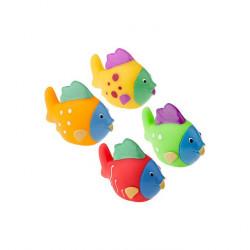 TULLO Zabawka do Kąpieli Zwierzątka Morskie RYBY 4 Sztuki 505