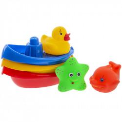 TULLO Zabawka do Kąpieli Zwierzątka Morskie i Łódeczki 123