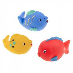 TULLO Zabawka do Kąpieli Zwierzątka Morskie RYBY 3 Sztuki 509