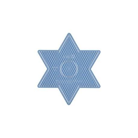Hama - 269TR - Podkładki Transparentne do Koralików Midi - Gwiazda Duża