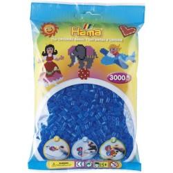 Hama - Midi - 20115 - Koraliki Niebieskie Transparentne - Zestaw Uzupełniający 3000 szt