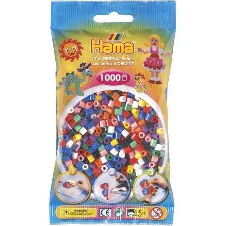 Hama - Midi - 20700 - Koraliki Mix Kolorów - Zestaw Uzupełniający 1000 szt