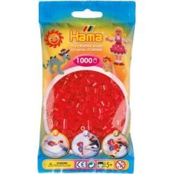 Hama - Midi - 20713 - Koraliki Czerwone Transparentne - Zestaw Uzupełniający 1000 szt
