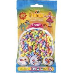 Hama - Midi - 20750 - Koraliki Mix Kolorów - Pastelowe - Zestaw Uzupełniający 1000 szt