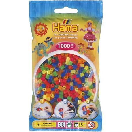 Hama - Midi - 20751 - Koraliki Mix Kolorów - Transparentne - Zestaw Uzupełniający 1000 szt
