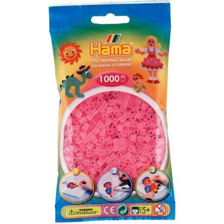 Hama - Midi - 20772 - Koraliki Różowe - Transparentne - Zestaw Uzupełniający 1000 szt