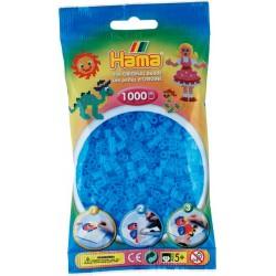 Hama - Midi - 20773 - Koraliki Błękitne - Transparentne - Zestaw Uzupełniający 1000 szt
