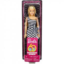 Mattel Lalka BARBIE 60. Urodziny Blondynka w Sukience w Paski GJF85