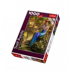 Trefl - 10356 - Puzzle 1000 - Kołysanka Flecistki