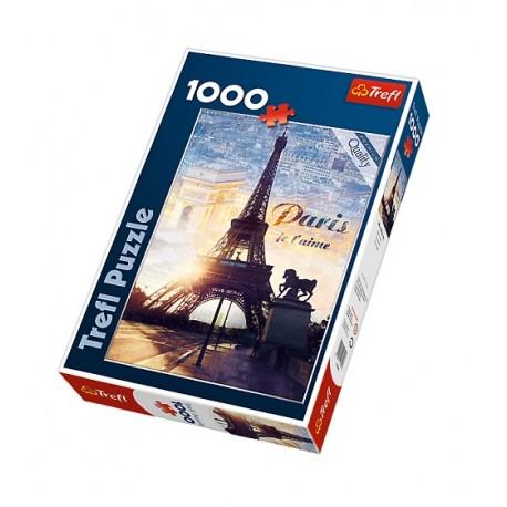 Trefl - 10394 - Puzzle 1000 - Paryż o Świcie