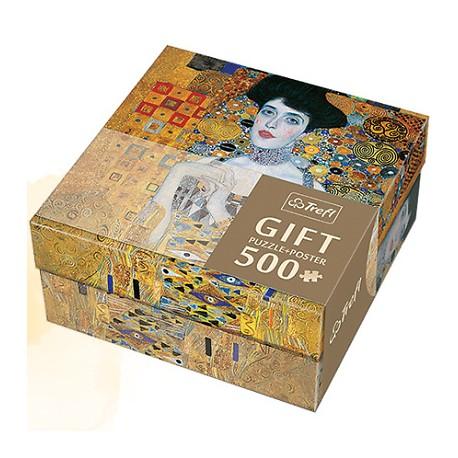 Trefl - 37217 - Puzzle Gift 500 - Gustav Klimt - Portret Adele Bloch - Bauer I