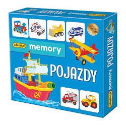 ADAMIGO Gra Towarzyska Memory Układanka Obrazkowa MEMO POJAZDY 7257