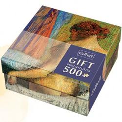 Trefl - 37216 - Puzzle Gift 500 - Edgar Degas - Po Kąpieli