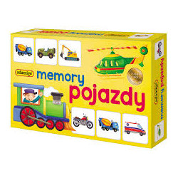 ADAMIGO Memory POJAZDY 7196
