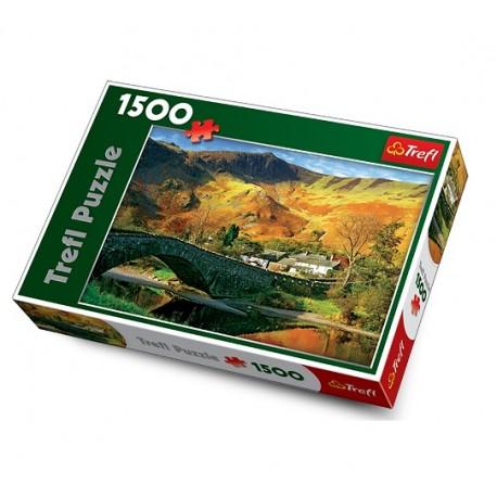 Trefl - 26111 - Puzzle 1500 - Most nad rzeką Derwent, Cumbria, Anglia