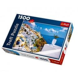 Trefl - 26119 - Puzzle 1500 - Santorini, Grecja