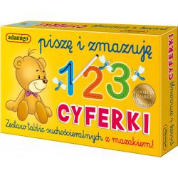 ADAMIGO Gra Edukacyjna Piszę i Zmazuję CYFERKI 6601