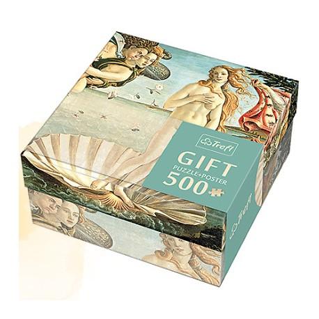 Trefl - 37214 - Puzzle Gift 500 - Sandro Botticelli - Narodziny Wenus