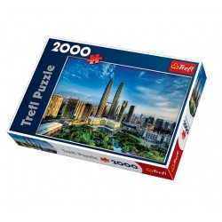 Trefl - 27075 - Puzzle 2000 - Petronas Twin Towers