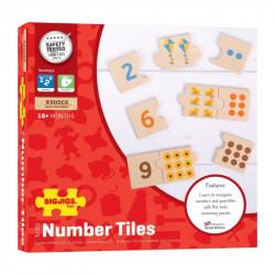 Bigjigs Toys Gra Układanka Drewniane Puzzle NAUKA LICZENIA BJT261