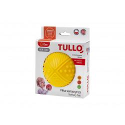 TULLO Zabawka Sensoryczna Piłka w Kolorze Żółtym 4 Faktury 463