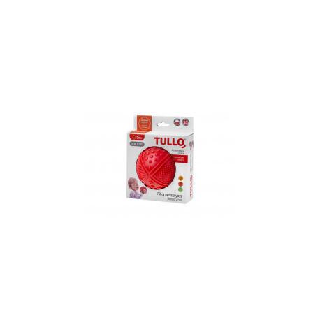 TULLO Zabawka Sensoryczna Piłka w Kolorze Czerwonym 4 Faktury 463