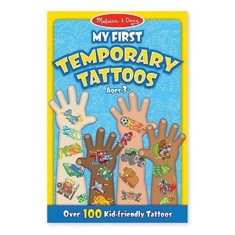 Melissa & Doug - 12947 - Tatuaże - Zestaw 100 Tatuaży - Niebieski