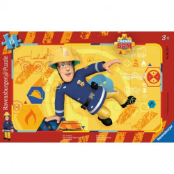 RAVENSBURGER Puzzle na Podkładce 15 Elementów STRAŻAK SAM 061259