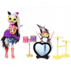MATTEL ENCHANTIMALS Lalka i Zwierzątko Sage Skunk i Caper FRH41