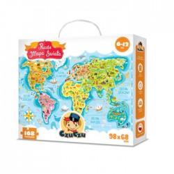 CzuCzu - 5603029 - Puzzle Podróżnika 168 - Mapa Świata