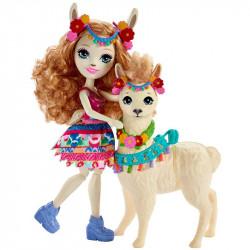 MATTEL ENCHANTIMALS Lalka i Zwierzątko Lluella Llama i Fleecy FRH42