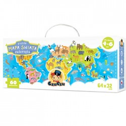 CzuCzu - 5749108 - Puzzle 60 - Mapa Świata - Zwierzęta