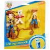 Toy Story 4 Figurki SZERYF CHUDY I FORKY GBG90