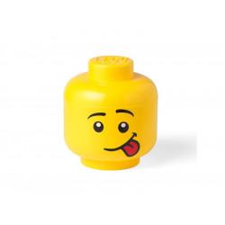 LEGO Pojemnik Głowa Duża L Chłopiec Silly 0889