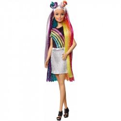 MATTEL Lalka Barbie DREAMTOPIA Lalka Z Tęczowymi Włosami FXN96