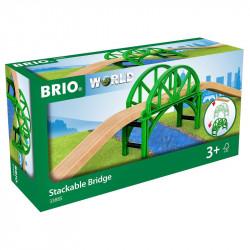 BRIO Zestaw do Kolejki Drewnianej SZTAPLOWANY MOST 33885