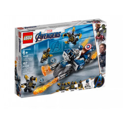 LEGO AVENGERS 76123 Kapitan Ameryka: atak Outriderów