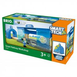 BRIO Zestaw do Kolejki Drewnianej Smart Tech WARSZTAT LOKOMOTYW 33918